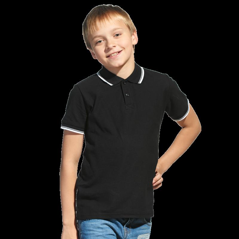 Детская рубашка поло, StanTrophyJunior, 04TJ, Чёрный (20), 8 лет