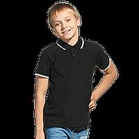 Детская рубашка поло, StanTrophyJunior, 04TJ, Чёрный (20), 14 лет