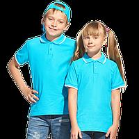 Детская рубашка поло, StanTrophyJunior, 04TJ, Бирюзовый (32), 10 лет