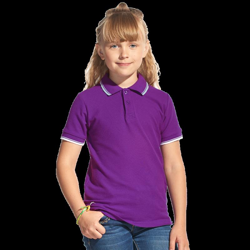 Детская рубашка поло, StanTrophyJunior, 04TJ, Фиолетовый (94), 12 лет