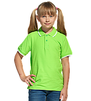 Детская рубашка поло, StanTrophyJunior, 04TJ, Ярко-зелёный (26), 8 лет