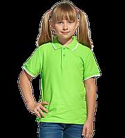 Детская рубашка поло, StanTrophyJunior, 04TJ, Ярко-зелёный (26), 12 лет