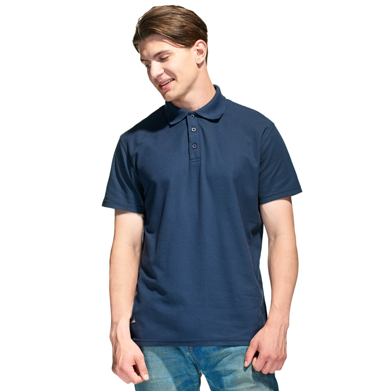 Базовая рубашка поло , StanPremier, 04, Тёмно-синий (46), 4XL/58