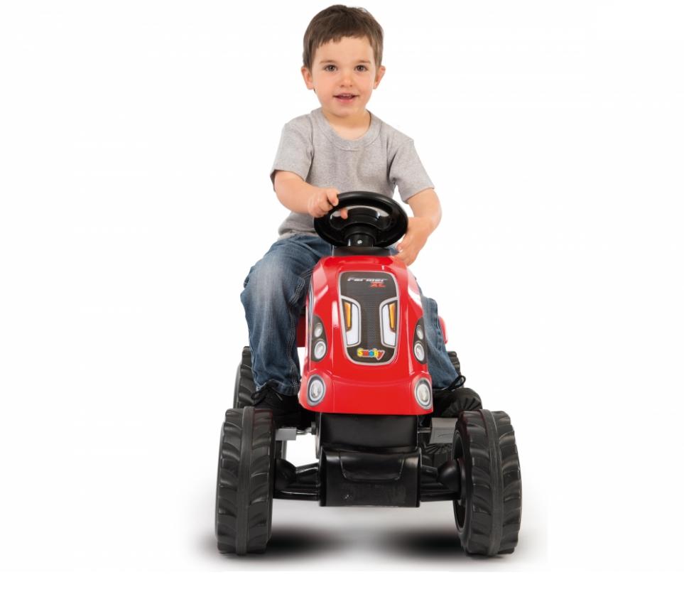Трактор педальный Smoby XL с прицепом, красный - фото 2