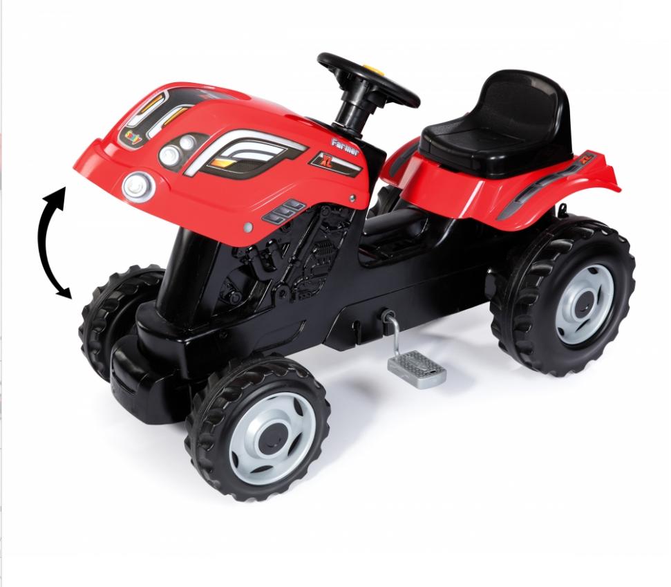 Трактор педальный Smoby XL с прицепом, красный - фото 4
