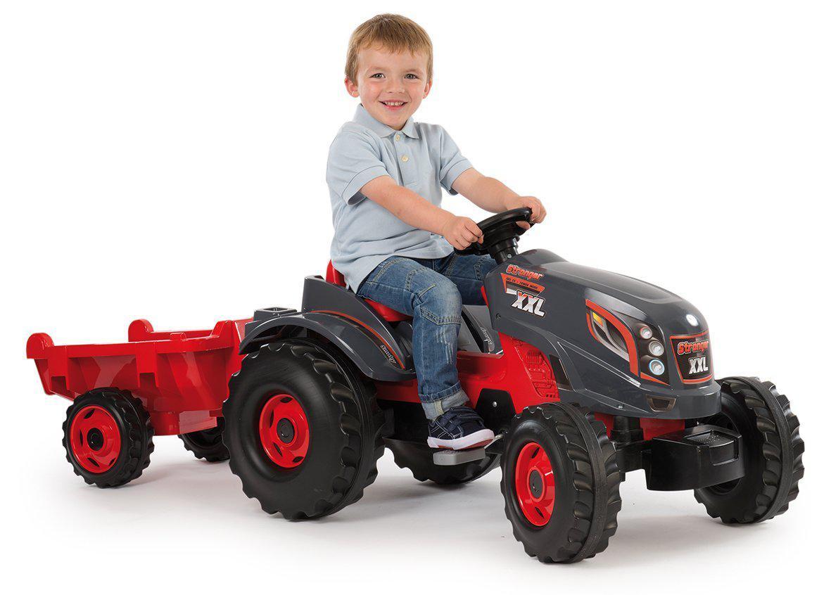 Трактор педальный Smoby XXL с прицепом - фото 1