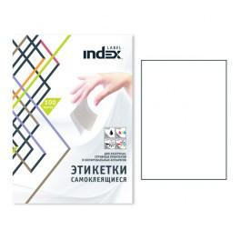 Этикетки самоклеящиеся INDEX Label, А4, 105 х 37 мм., 16 шт/лист, 100 л.