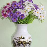 """Керамическая ваза для цветов ручной работы """"Зеленые листья,""""20-25 см"""