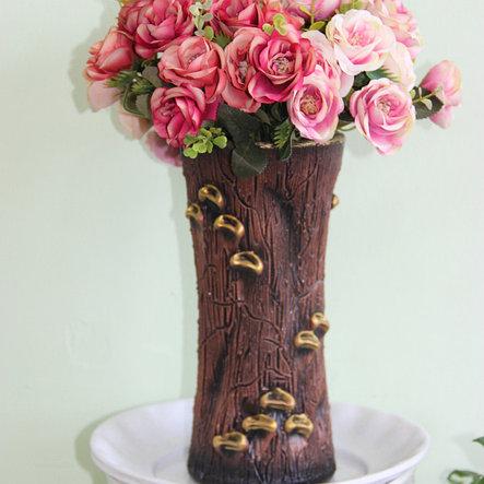 """Керамическая ваза для цветов ручной работы """"Пенек"""".20-25 см, фото 2"""