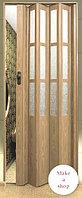 Раздвижные двери гармошка (0,86см Х 2м,030см) Китай Свет.Орех