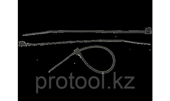 Хомуты нейлоновые черные, 7.6 x 250 мм, 100 шт, ЗУБР