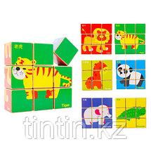 Деревянные кубики-пазлы, фото 2