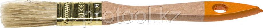 """Кисть флейцевая DEXX """"ПРАКТИК"""", деревянная ручка, натуральная щетина, индивидуальная упаковка, 50мм, фото 2"""