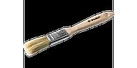 """Кисть плоская ЗУБР """"УНИВЕРСАЛ-ЭКСПЕРТ"""", светлая натуральная щетина, деревянная ручка, 1,5""""/38мм"""