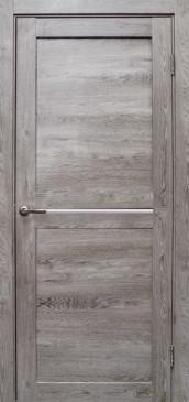 Дверь Вектор, цвет дуб дымчатый, матовое стекло