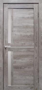 Дверь Медиана, цвет дуб дымчатый, матовое стекло