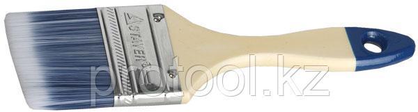 """Кисть плоская STAYER """"AQUA-STANDARD"""", искусственная щетина, деревянная ручка, 25мм"""