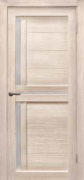 Дверь Медиана, цвет лиственница кремовая, матовое стекло