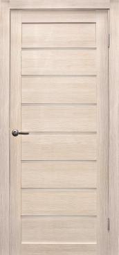 Дверь Линия, цвет лиственница кремовая, матовое стекло