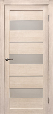 Дверь Параллель, цвет лиственница кремовая, матовое стекло