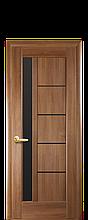 """Дверь """"Грета"""" с чёрным стеклом золотая ольха"""