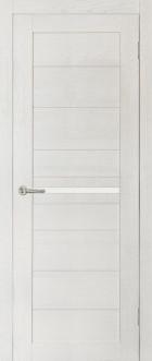 Дверь Вектор, цвет ясень, матовое стекло