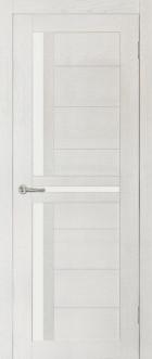 Дверь Медиана, цвет ясень, матовое стекло