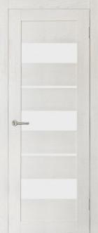 Дверь Параллель, цвет ясень, матовое стекло
