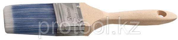 """Кисть плоская STAYER """"AQUA-LUX"""", искусственная щетина, неокрашенная профессиональная деревянная ручка, 75мм, фото 2"""