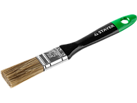 """Кисть плоская STAYER """"EURO"""", """"AQUA"""" для воднодисперсионных и акриловых ЛКМ, искусств щетина, деревя ручка, 1,5"""