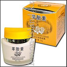 Крем-тональная основа под макияж для лица на основе экстракта овечьей плаценты смягчающий.