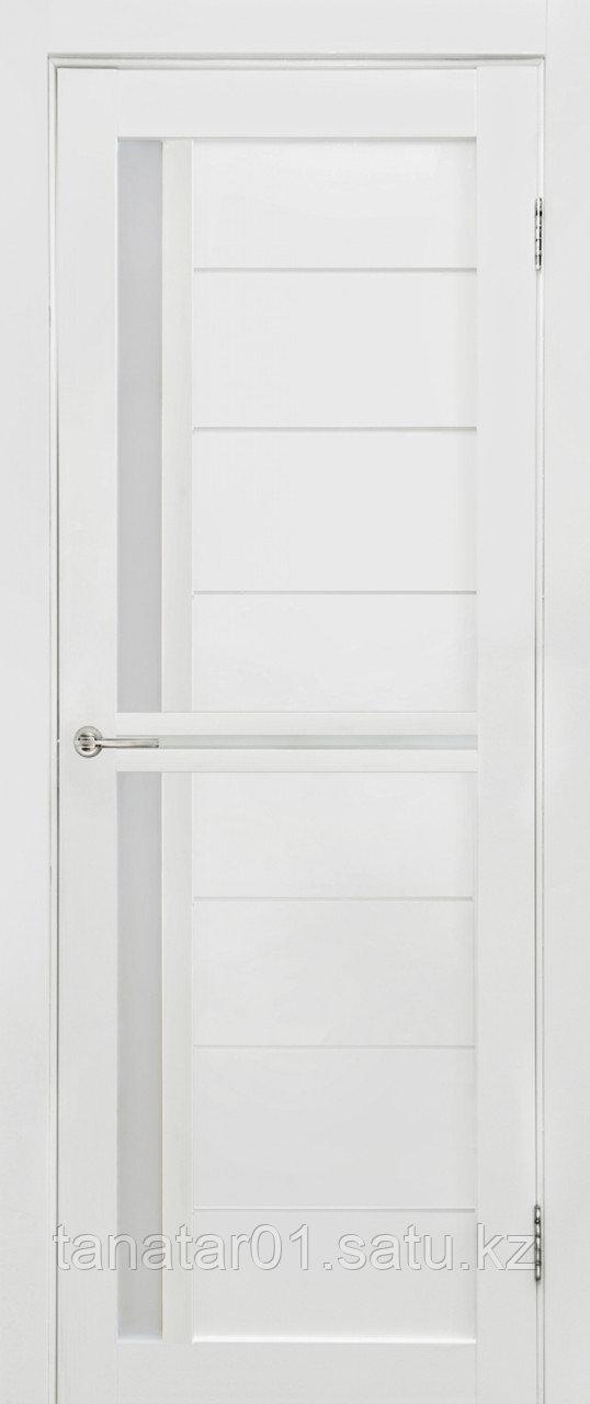 Дверь Медиана, цвет белый мат, матовое стекло