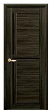"""Дверь """"Тринити"""" с чёрным стеклом кедр"""