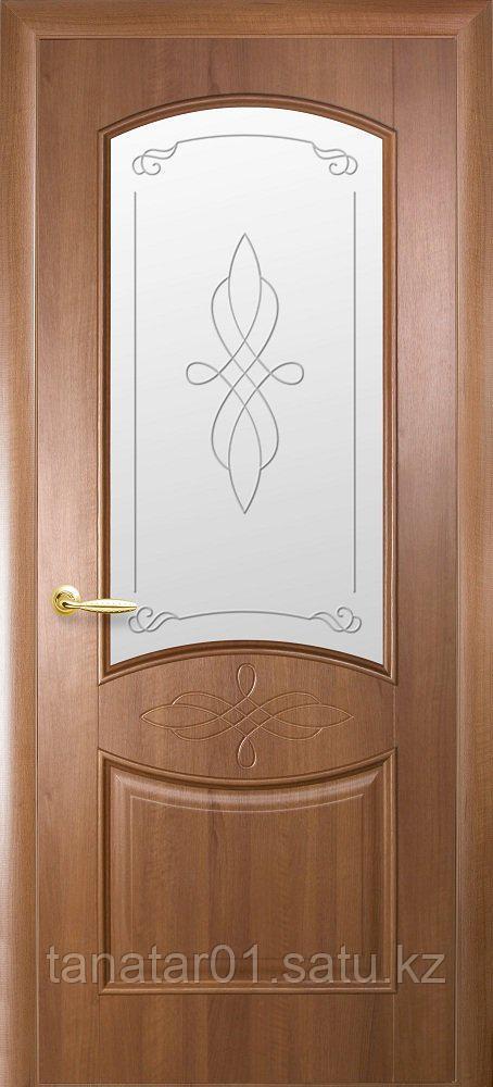 """Дверь """"Донна"""" со стеклом золотая ольха"""