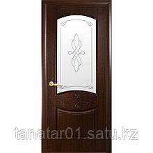 """Дверь """"Донна"""" со стеклом каштан"""