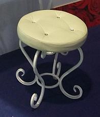 Набор из кованых изделий Пуфик+Консоль+Зеркало+Часы, фото 3
