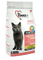 1st Choice Indoor Vitality (Фест Чойс) корм для взрослых домашних кошек с курицей,  5,44 кг.