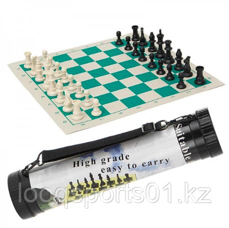 Шахматы в тубе (тубусе) виниловые (33x33)