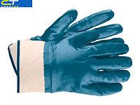Перчатки рабочие из трикотажа с нитриловым обливом, крага, M