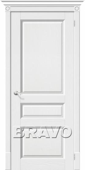 Межкомнатная шпонированная дверь Вилла ДГ белая