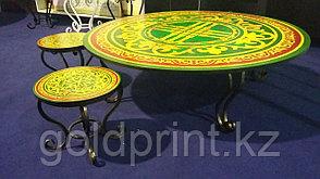 """Круглый стол """"Дастархан"""" с УФ(UV) фотопечатью Ø 120см, фото 2"""