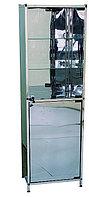 Шкаф медицинский из нержавеющей стали одностворчатый Э-111/Н-ШК