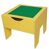 Lego-стол Красный + Лего полотно 40*40 (3 цвета на выбор)