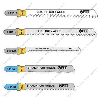 (41011) Набор полотен для электролобзика, 5 шт (T111C; T101BR; T101AO; T118A; T118B)