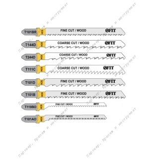(41013) Набор полотен для электролобзика, 10 шт