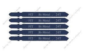 (41120) Полотна для электролобзика/металлу, европ.хвост.,Bi-metal, 24Т (набор 5шт)