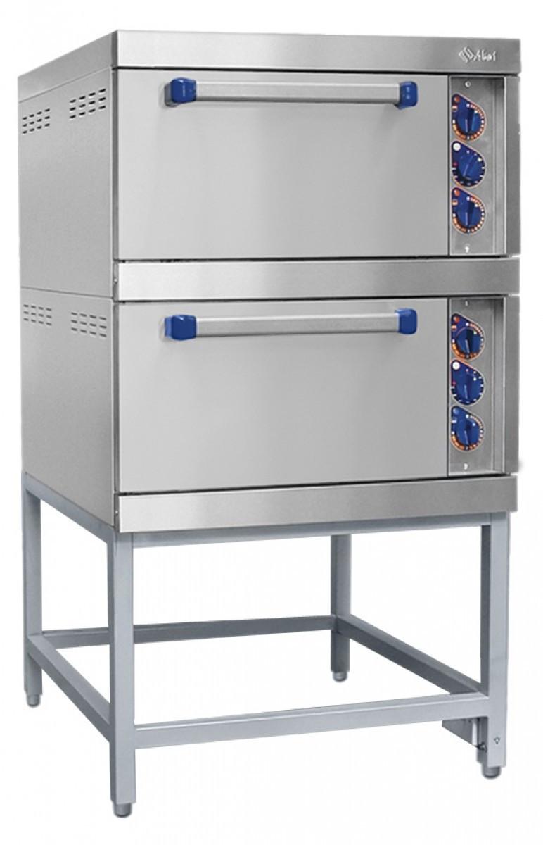 Шкаф жарочный 2-секционный (нерж. духовка) с подставкой, электр.