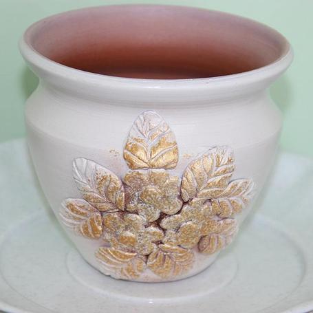 Керамический горшок для цветов .2 л, фото 2