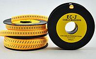 """Маркер кабельный EC-J, символ """" B """", 500 шт/roll"""