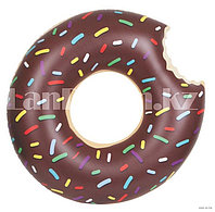 """Надувной плавательный круг """"Пончик"""" 60 см (шоколадный)"""